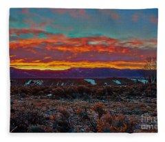 Taos Sunrise Fleece Blanket