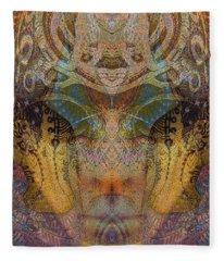 Tattoo Mask Fleece Blanket
