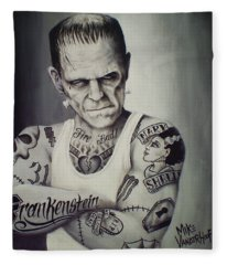 Dracula Fleece Blankets