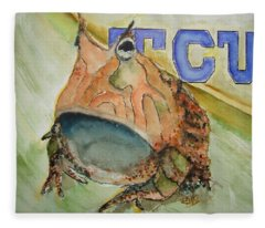Texas Christian University Paintings Fleece Blankets