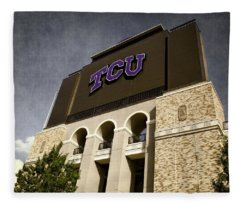 Tcu Stadium Entrance Fleece Blanket