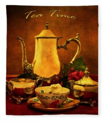 Tea Time Fleece Blanket