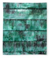 Teal Water Panels Fleece Blanket