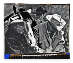 Ted Degrazia Travis Edmonson Broderick Crawford Signing Autograph Gallery In The Sun Tucson Arizona  Fleece Blanket
