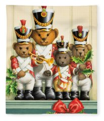 Teddy Bear Band Fleece Blanket