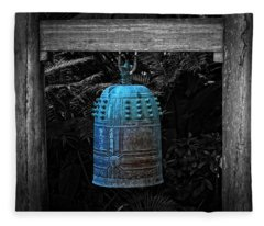 Temple Bell - Buddhist Photography By William Patrick And Sharon Cummings  Fleece Blanket