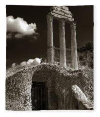 Temple Of Castor And Polux Fleece Blanket