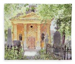 Temple Of Harmony, Vesprem, Hungary, 1996 Wc On Paper Fleece Blanket