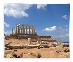 Temple Of Poseidon Fleece Blanket