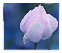 Tender Morning With Lotus Fleece Blanket