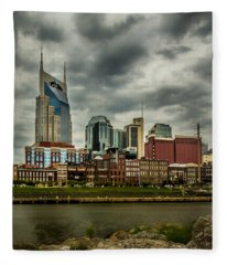Tennessee - Nashville From Across The Cumberland River Fleece Blanket