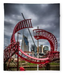 Tennessee - Nashville Through Sculpture Fleece Blanket