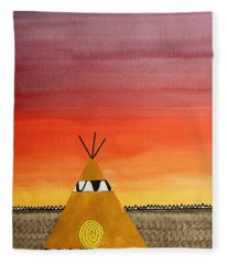 Tepee Or Not Tepee Original Painting Fleece Blanket