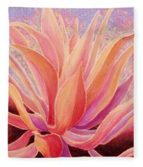 Fleece Blanket featuring the painting Tequila Sunrise by Sandi Whetzel