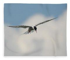 Tern In Flight Fleece Blanket