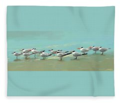 Tern Tern Tern Fleece Blanket
