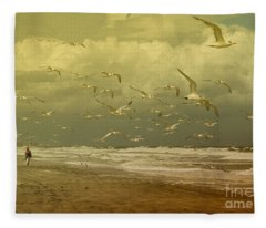 Terns In The Clouds Fleece Blanket