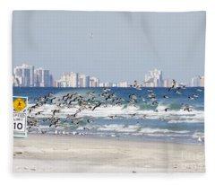 Terns On The Move Fleece Blanket