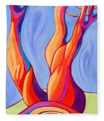 Fleece Blanket featuring the painting Terpsichore Tribute by Sandi Whetzel