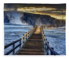 Terrace Boardwalk Fleece Blanket