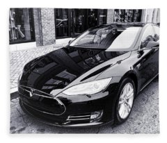 Tesla Model S Fleece Blanket