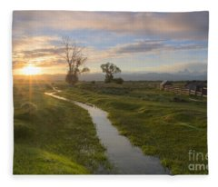 Teton Valley Morning Fleece Blanket
