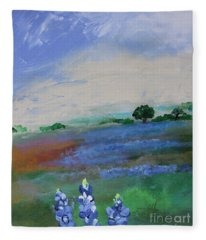Texas Bluebonnets Fleece Blanket