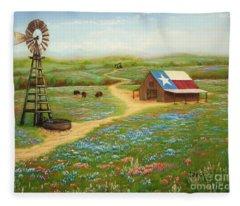 Texas Countryside Fleece Blanket
