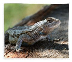 Texas Lizard Fleece Blanket