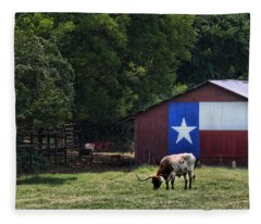 Texas Longhorn Grazing Fleece Blanket