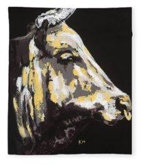 Texas Longhorn Profile Fleece Blanket
