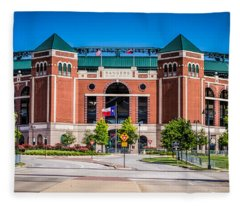 Globe Life Park In Arlington Fleece Blanket