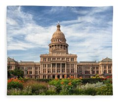 Texas State Capitol II Fleece Blanket