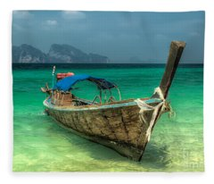 Thai Boat  Fleece Blanket