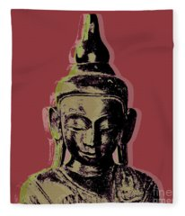 Thai Buddha #1 Fleece Blanket
