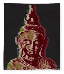 Thai Buddha #3 Fleece Blanket