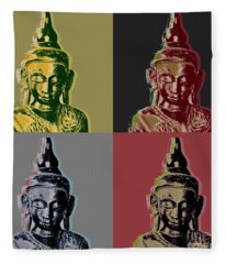 Thai Buddha Fleece Blanket