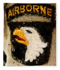 The 101st Airborne Emblem Painting Fleece Blanket