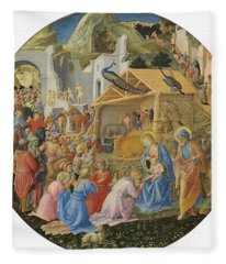 The Adoration Of The Magi, C.1440-60 Tempera On Panel Fleece Blanket