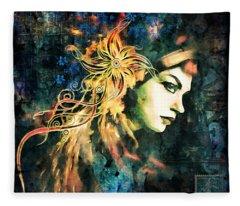 The Adultress Grunge Art Fleece Blanket