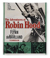 The Adventures Of Robin Hood B Fleece Blanket