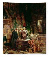 The Alchemist, 1853 Fleece Blanket