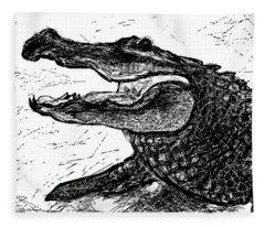 The Alligator Fleece Blanket