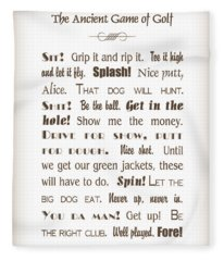 The Ancient Game Of Golf - Sepia Fleece Blanket