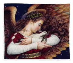 The Angel And The Dove Fleece Blanket