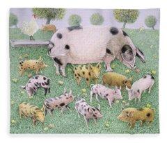 The Apple Feast Fleece Blanket