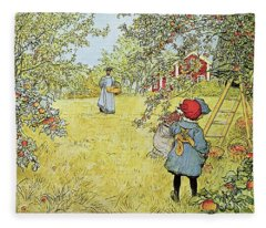 The Apple Harvest Fleece Blanket