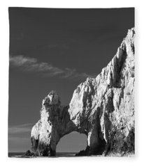 The Arch In Black And White Fleece Blanket
