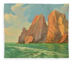 The Arch Of Cabo San Lucas 3 Fleece Blanket