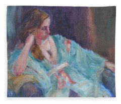 Inner Light - Original Impressionist Painting Fleece Blanket